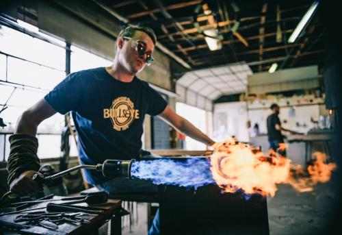 A Glass Artist Fires His Work at the North Carolina Glass Center in Asheville