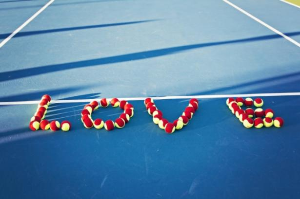 Love Spelled Out With Tennis Balls