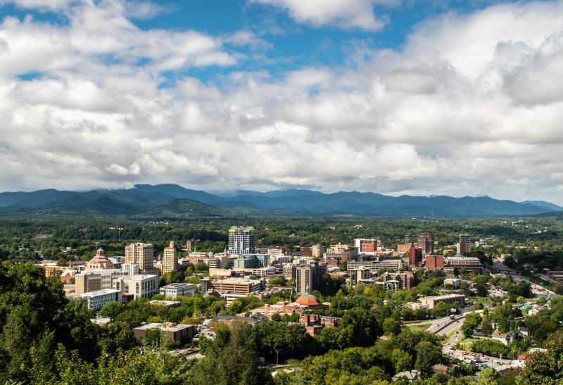 Downtown Asheville, N.C. on Monday, September 17, 2018