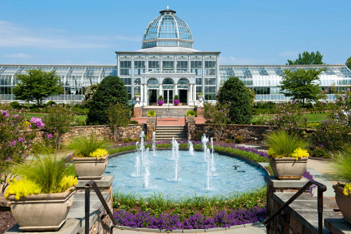New Lewis Ginter Tulips And Conservatory At Botanical Garden