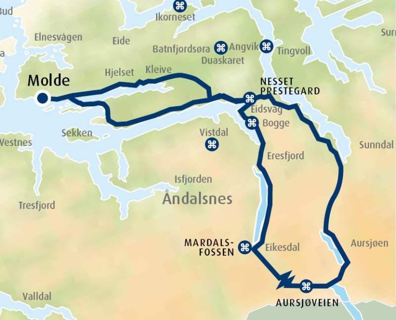 torbudalen kart Tour suggestion by car: Mardalsfossen waterfall and Aursjøveien Road torbudalen kart