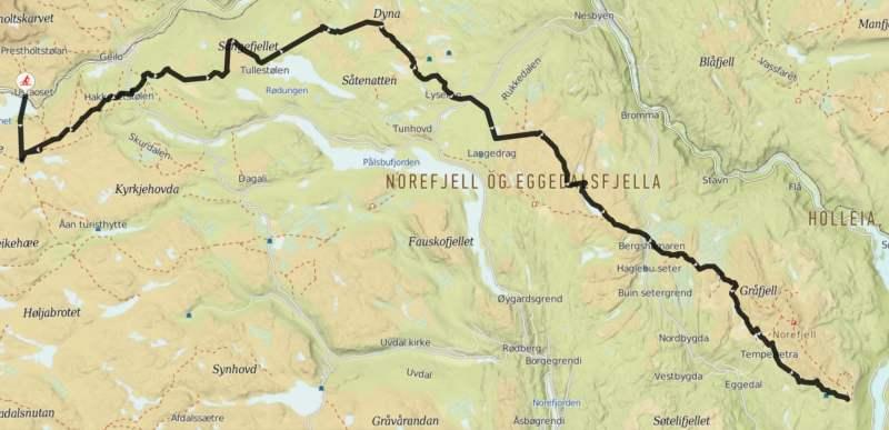 kart haglebu The Hallingdal Track (South)   from Ustaoset to Norefjell kart haglebu
