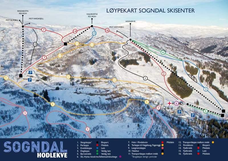 skisenter norge kart Sogndal Skisenter  alpine resort skisenter norge kart
