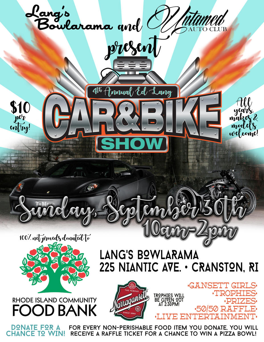 4th Annual Ed Lang Car & Bike Show to benefit the RI Community Food Bank