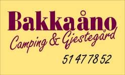 Logo Bakkaåno Camping & Gjestegard