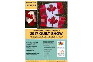 Binding Canada Together: One Quilt at a Time - Kelowna Events