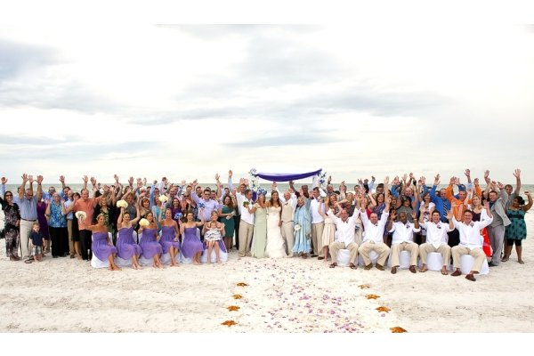 Group Photo - Destination Wedding Florida by Gulf Beach Weddings
