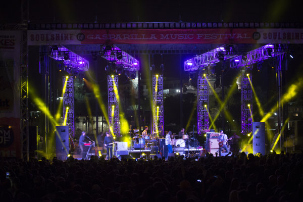 Gasparilla Music Festival at night