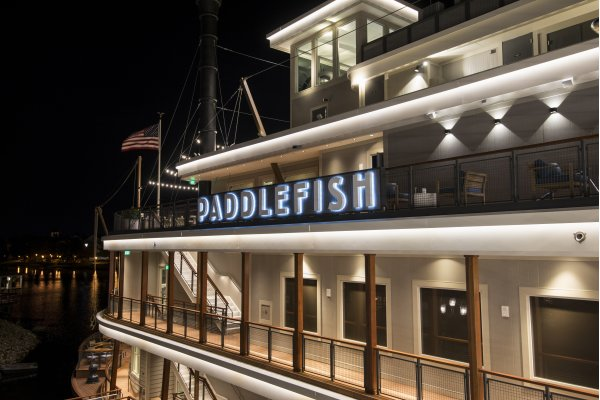 Paddlefish Side Deck Night View