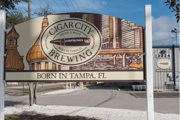 Brewery Front Sign