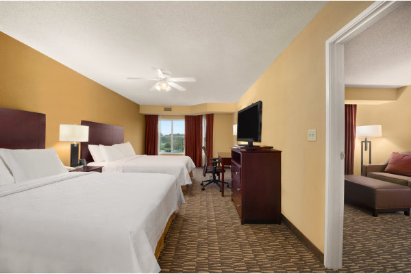 2 Queen Beds Homewood Suites Tampa Brandon Hotel