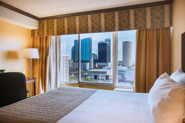 Guest room with city view
