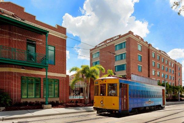 Hampton Inn & Suites Tampa Ybor City Trolley.jpg