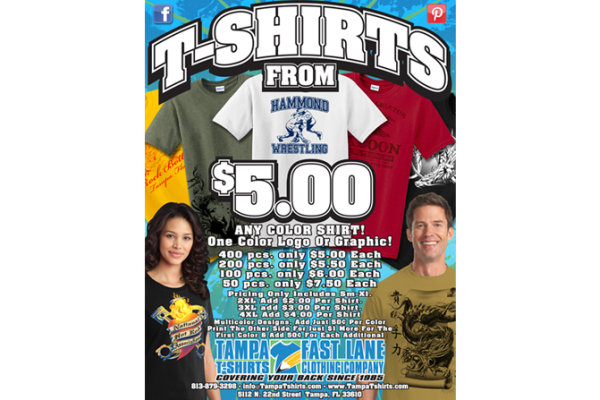 Tampa T-Shirts Flyer 2014