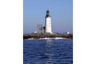 Old photo of Halfway Rock Light