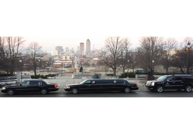 Des Moines Skyline and Some of Our Vehicles