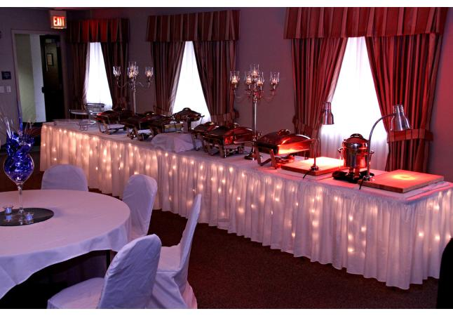Wedding Reception Buffet Table