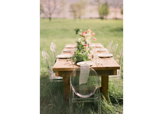Barn wood table & Ghost chairs