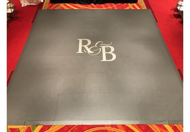 Vinyl wrap dance floor