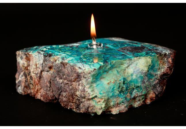Stone Oil Lamp