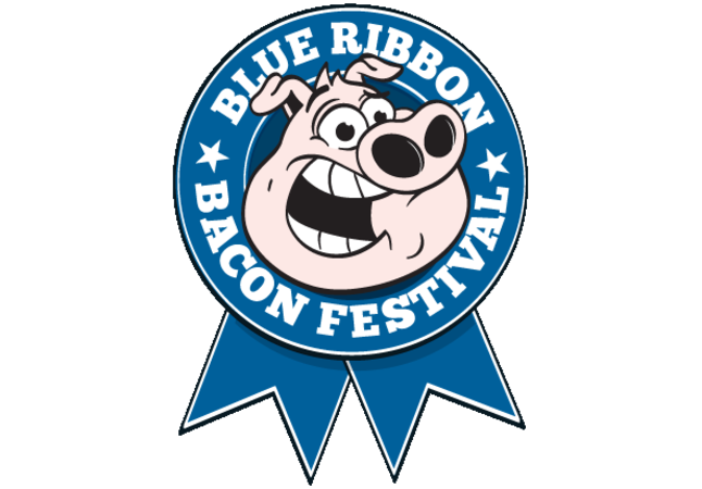 Logo for Blue Ribbon Bacon Festival