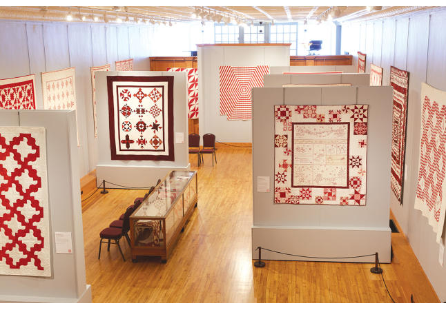 Three Centuries of Red + White Quilts