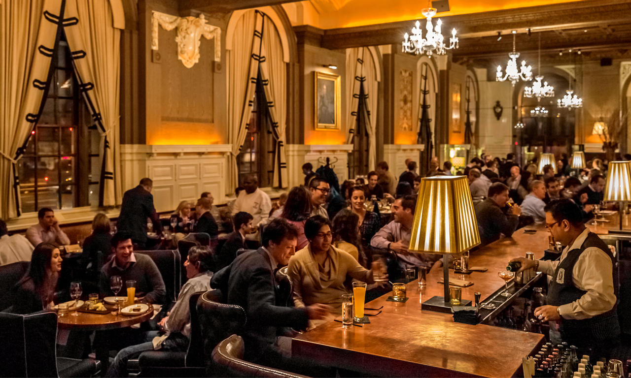 oak long bar + kitchen - fairmont copley plaza hotel