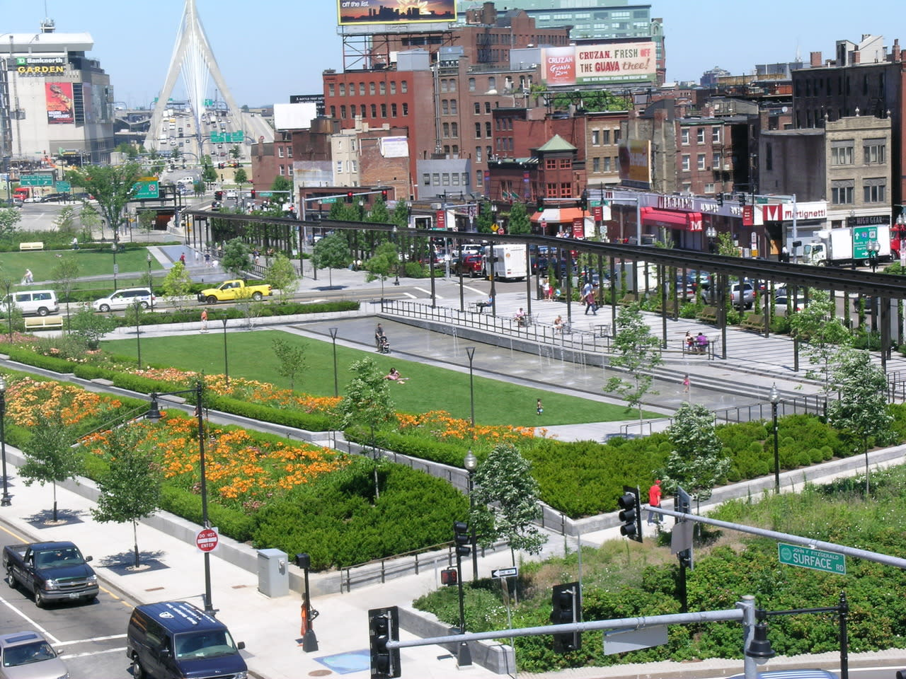 Rose fitzgerald kennedy greenway conservancy greenway aerial sciox Choice Image