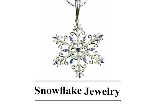 Park City Jewelers Snowflake Necklace With Text
