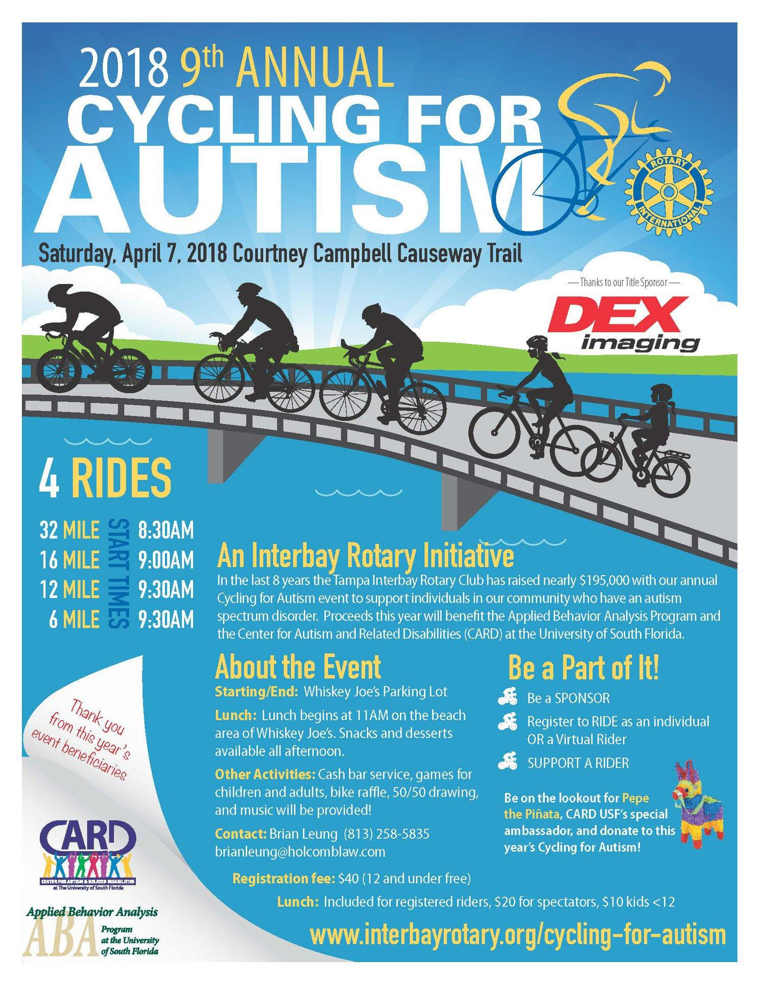 9th Annual Cycling For Autism/A Tampa Interbay Rotary Initiative