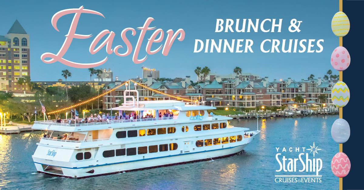 Easter Brunch & Dinner Cruises on April 1, 2018
