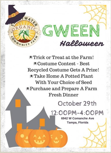Gween Halloween at Sweetwater Organic Community Farm