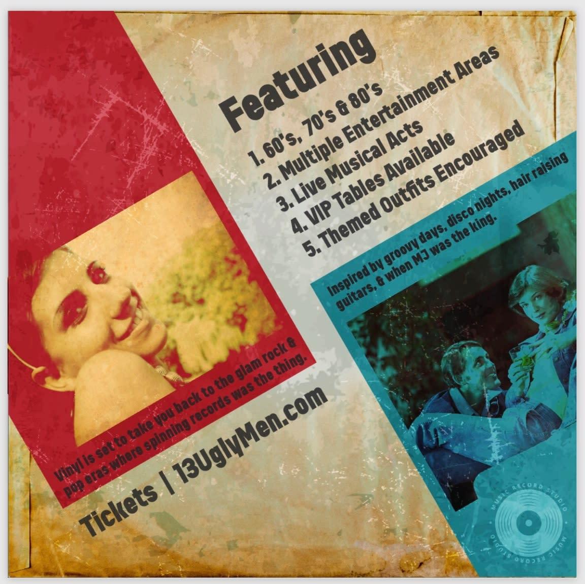 "13 Ugly Men Present ""The Vinyl Party"""