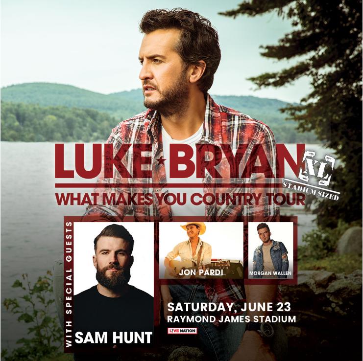 Luke Bryan: What Makes You Country Tour - with Sam Hunt, Jon Pardi, Morgan Wallen