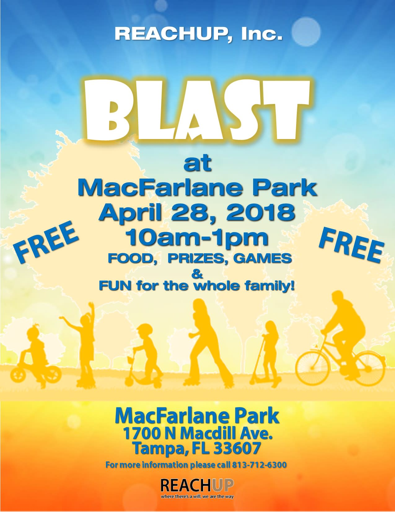 REACHUP, Inc. Blast at MacFarlane Park