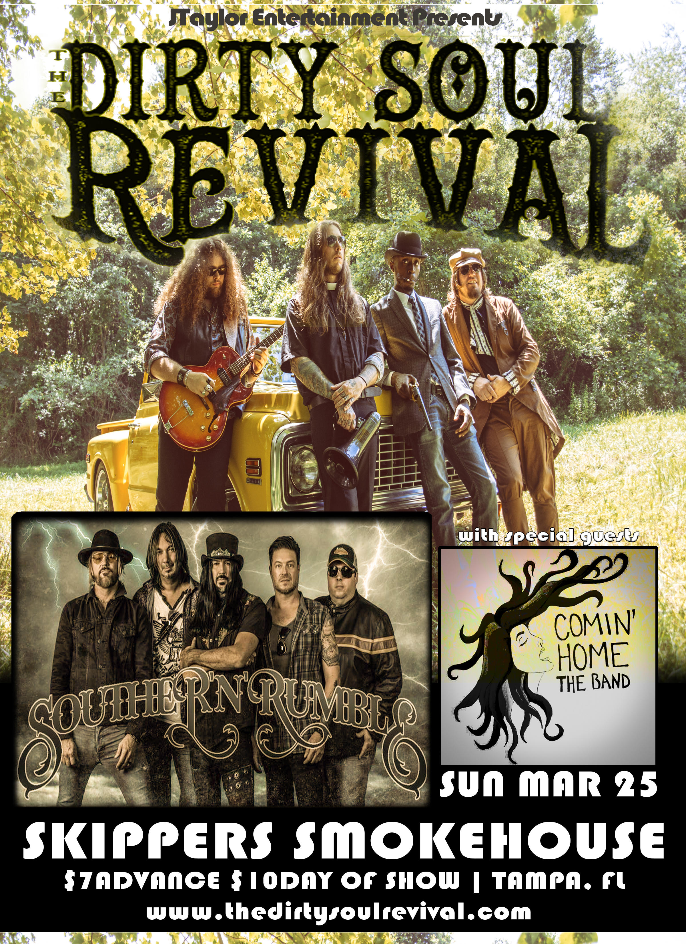 The Dirty Soul Revival & Southern Rumble at Skippers Smokehouse.