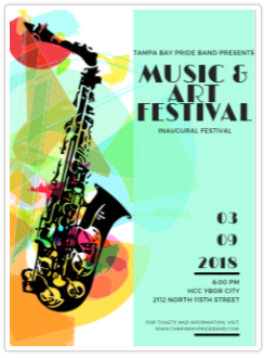 Tampa Bay Pride Band presents: Music and Arts Festival