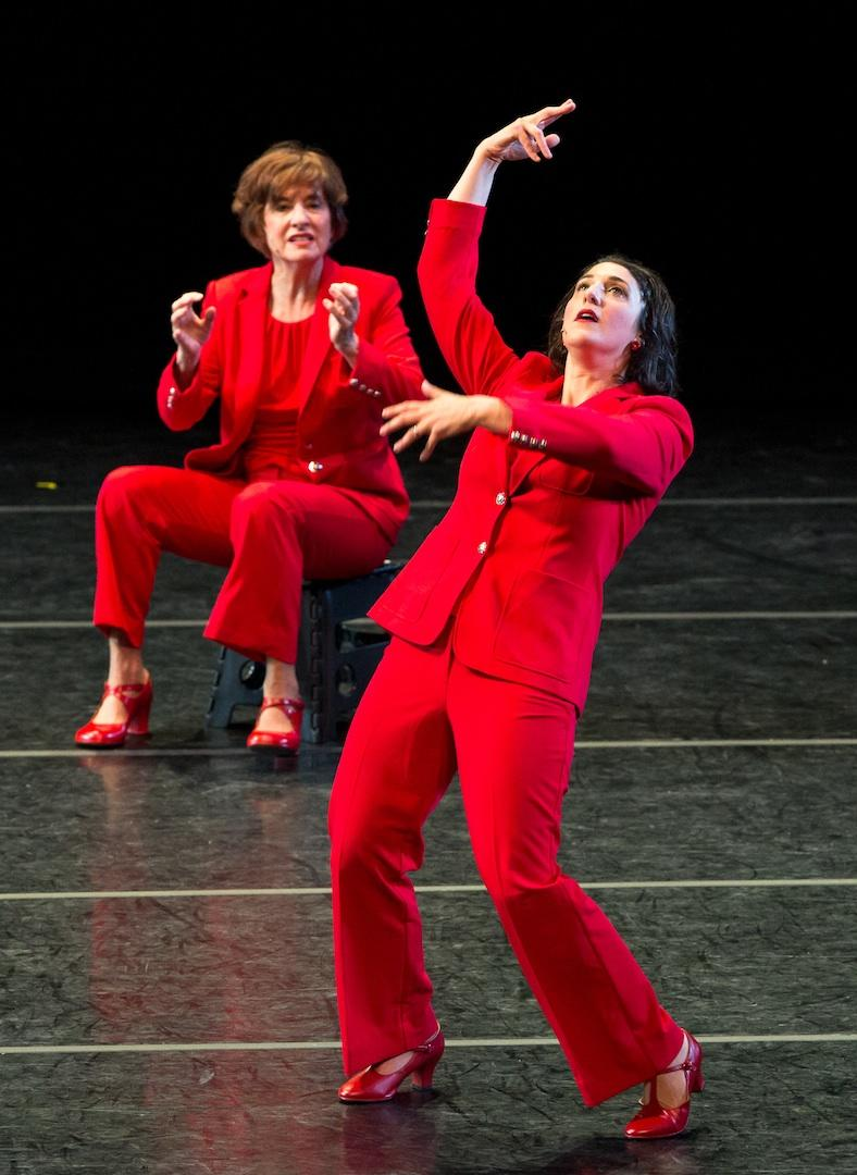 The Lectern: rule by rule by rule - dance theatre piece by Claire Porter and Sara Juli
