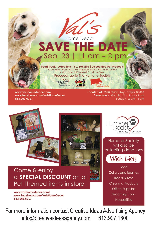 Val's Home Decor Humane Society Fundraiser