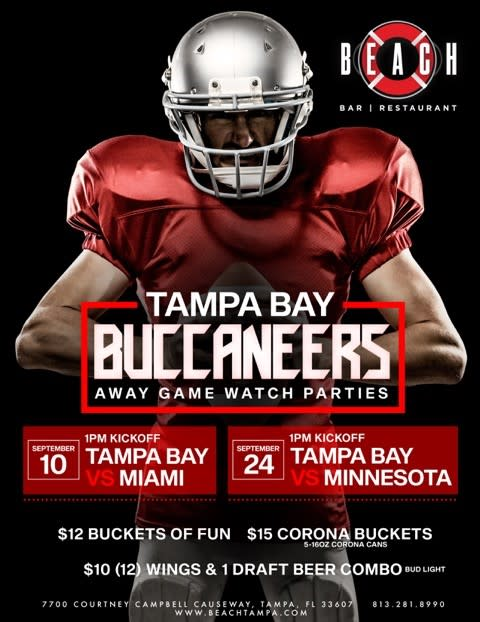 Tampa Bay Buccaneers Watch Party at Beach Bar