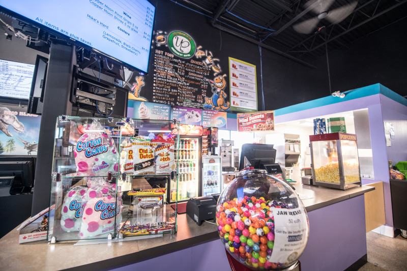 Delicious treats and eats that you would expect at any great amusement facility!  Pizza, hamburgers, hot dogs, cotton candy, mini-donuts, ice cream and so much more!  Our licensed canteen is sure to satisfy!