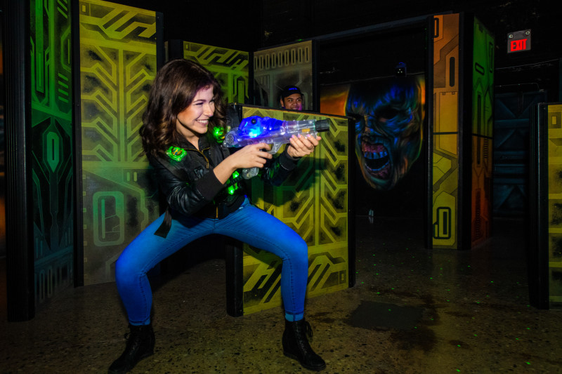 Up to 32 players per round in this post apocalyptic themed laser tag course will keep the adrenaline going and have you wanting more action!