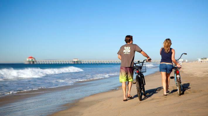 Bike the Ocean Strand in Huntington Beach