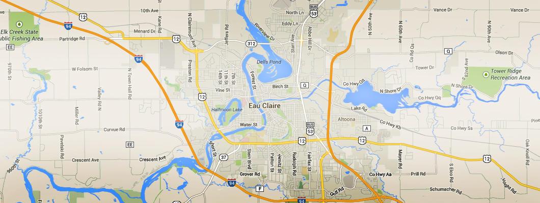 Eau Claire Maps Digital Downloadable