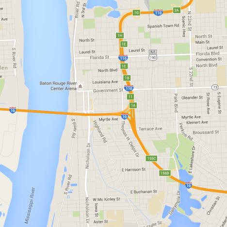 Maps Visit Baton Rouge