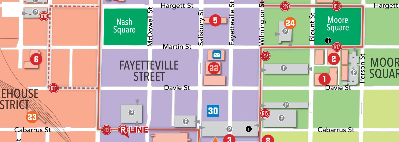 Raleigh NC Maps Downtown Raleigh Map