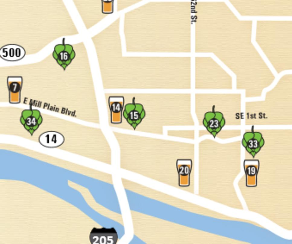 Vancouver WA Breweries Wineries Details Maps Photos