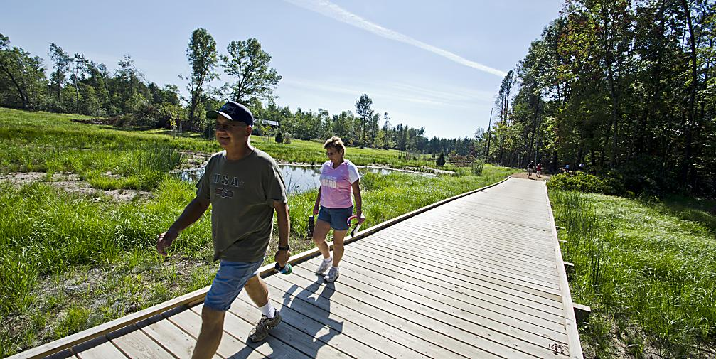 Cover some ground by hiking the trails in the Stevens Point Area, including the 27-mile Green Circle Trail as it winds through the Schmeeckle Reserve.