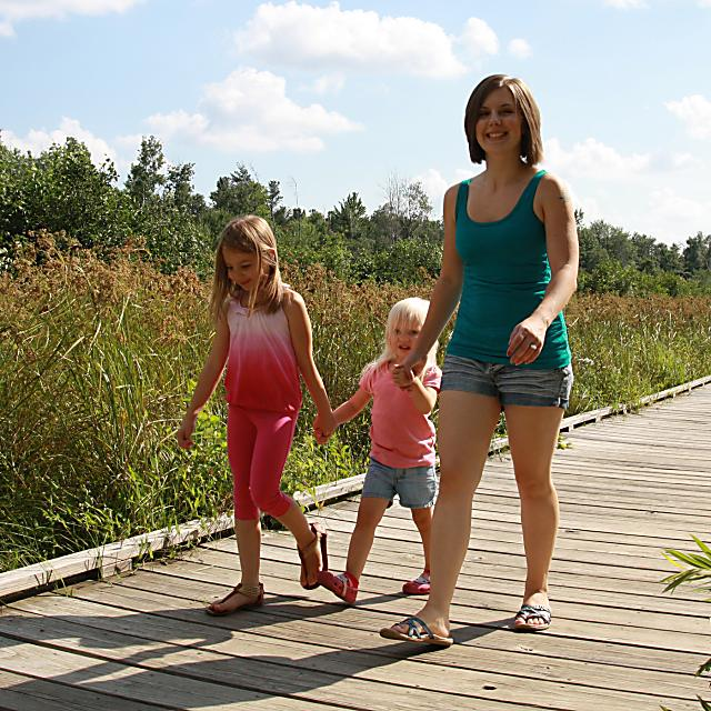 Find family fun along the trail in the Stevens Point Area, including the Schmeeckle Reserve