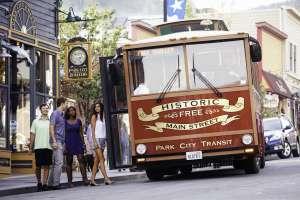 Group Trolley on Historic Main Street